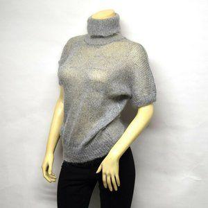 Vtg Krizia Maglia Mohair sheer turtleneck sweater